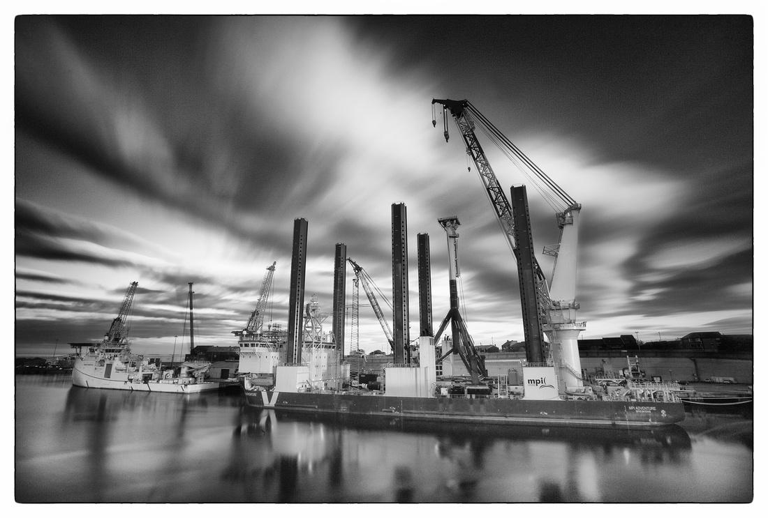 Sunderland docks - MPI Adventure B&W
